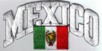 Mexico Embroidered Flag Patch, style 03.